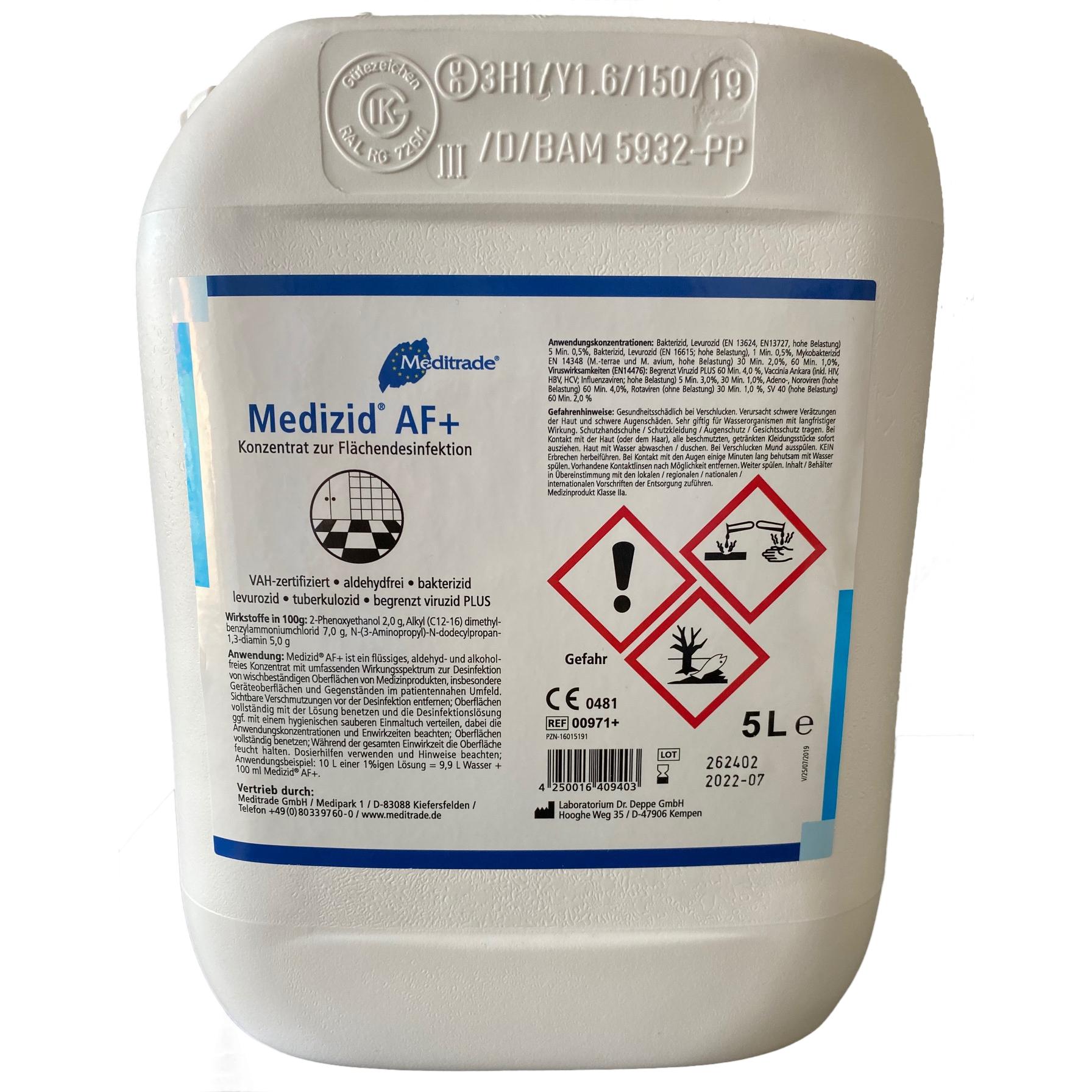 Medizid® AF+ 5l Flächendesinfektion Konzentrat