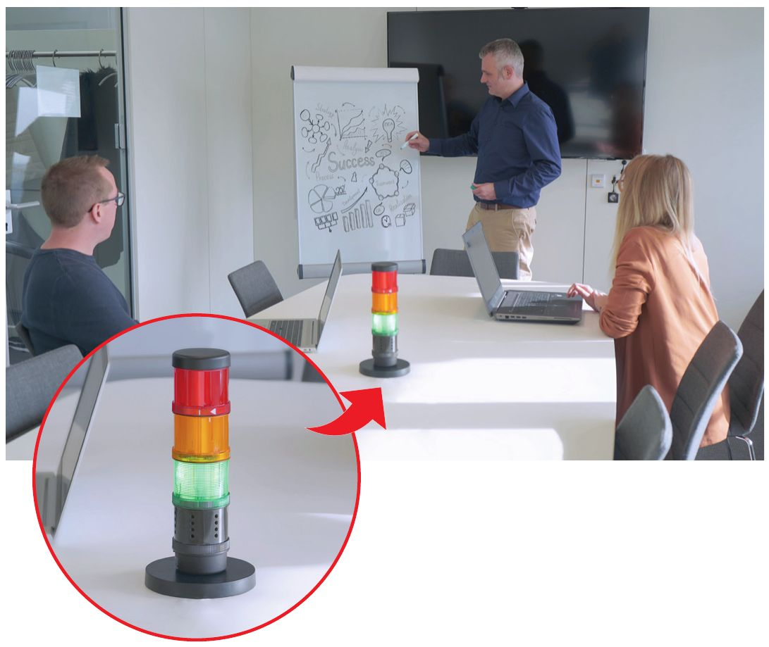 Werma CO2 Ampel im Büro
