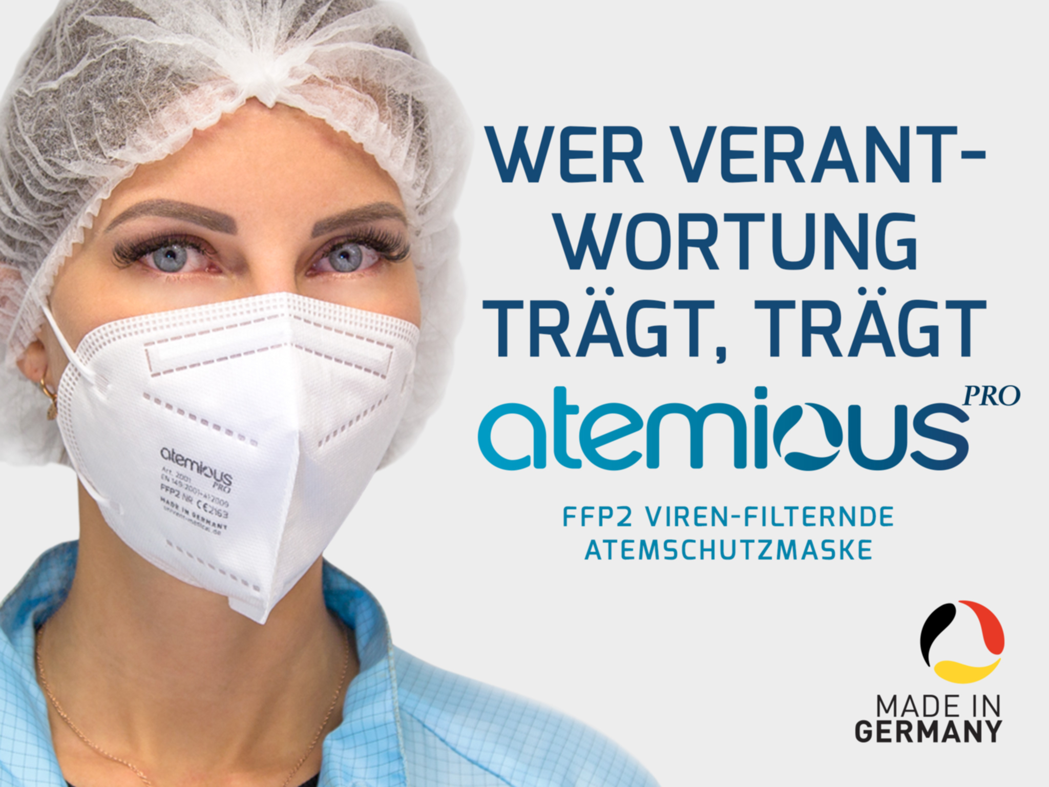 Univent Atemious PRO FFP2 Maske  (Made in Germany) 4 lagig -(30 Stück)-