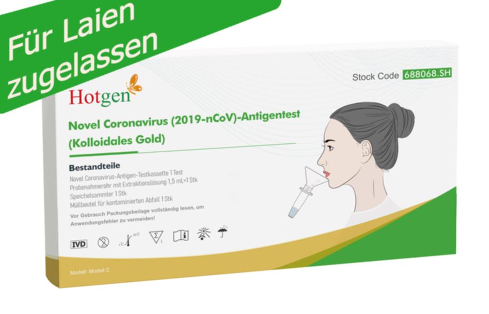 SOFORT lieferbar: -5er Packung Hotgen Corona Schnelltest Novel Coronavirus (2019-nCoV)-Antigentest (Speichel)