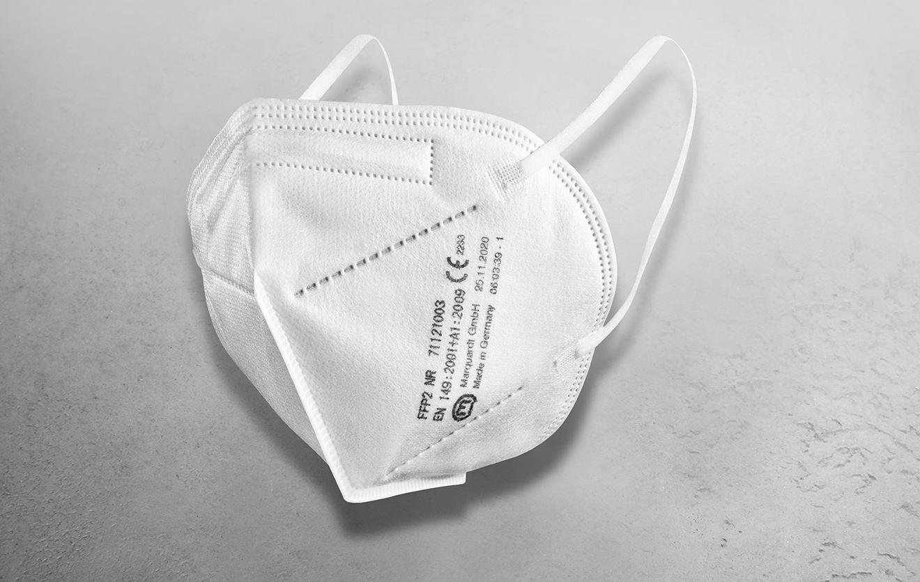 Marquardt FFP2 Mundschutz-Masken - Made in Germany, 20 Stück
