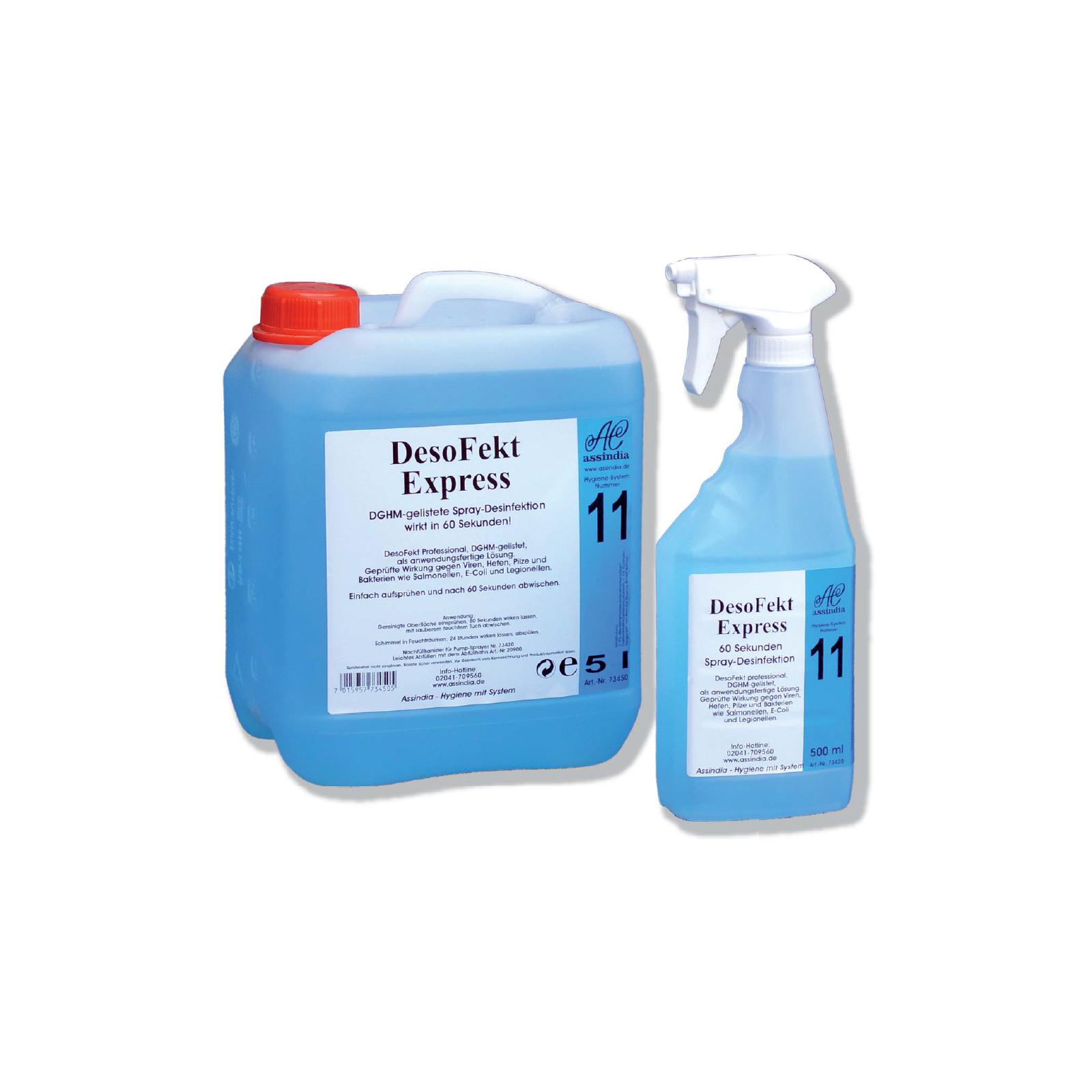 DesoFekt Express 0,5 L Flasche Flächendesinfektion