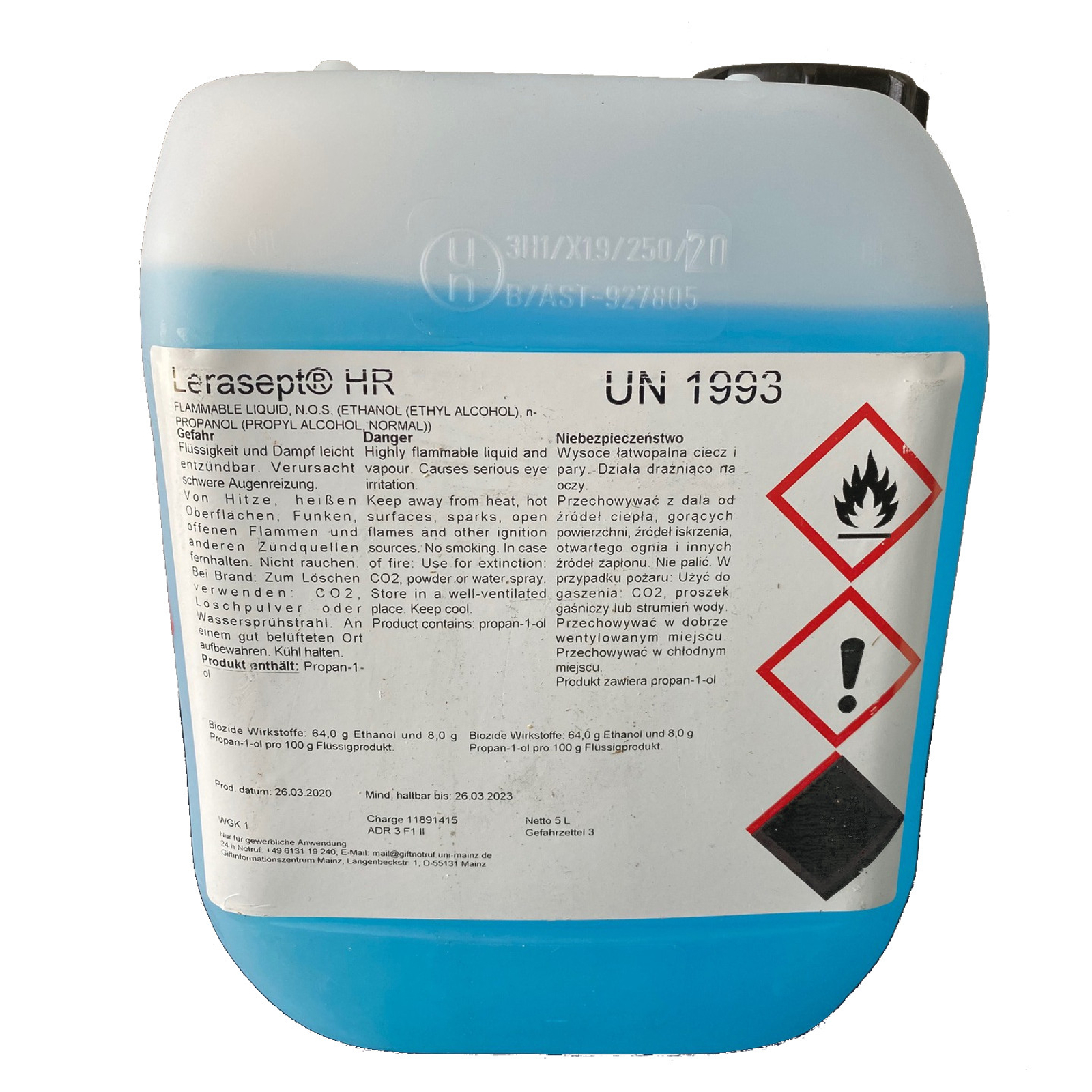 Alkoholisches Handdesinfektionsmittel - Lerasept HR 5l