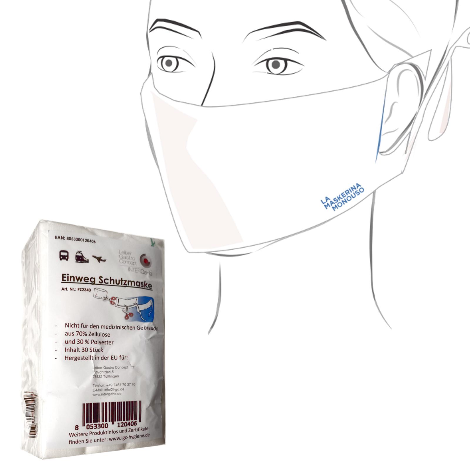 Einweg Mund-Nasen-Schutz Vliesmaske